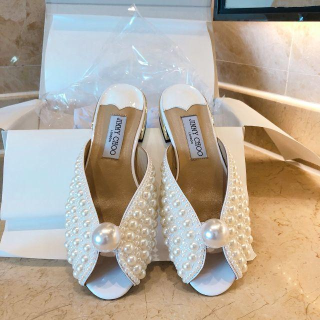 JIMMY CHOO(ジミーチュウ)のJIMMY CHOO ジミーチュウ 靴/シューズ サンダル パンプス  38 レディースの靴/シューズ(サンダル)の商品写真