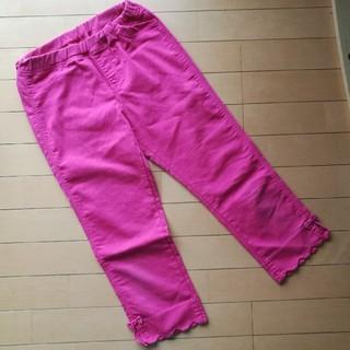 GU - クロップドパンツ150 ピンク