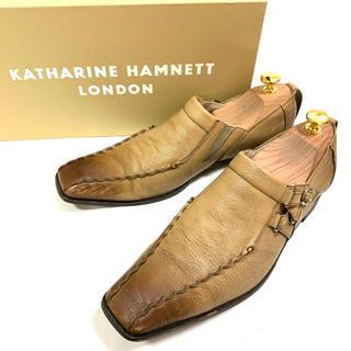 キャサリンハムネット(KATHARINE HAMNETT)のKATHARINE HAMNETT 24.5cm スリッポン レザー 本革 革靴(スリッポン/モカシン)