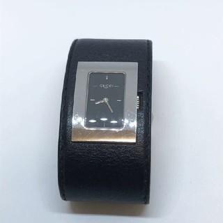 グッチ(Gucci)の美品★新品電池交換済み【GUCCI グッチ】7800L 時計 スクエア レザー(腕時計)