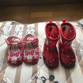 ディズニー(Disney)のミニーちゃんサンダル&長靴(長靴/レインシューズ)