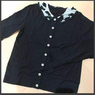ジェーンマープル(JaneMarple)のJaneMarple襟リボンカットソーカーデ(カーディガン)