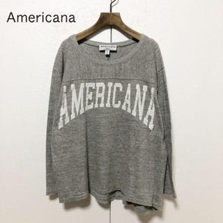 アメリカーナ(AMERICANA)のAmericana/霜降りボディ アーチロゴ フットボールカットソー F(Tシャツ(長袖/七分))