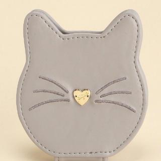 ジェラートピケ(gelato pique)の新品 gelato pique キャットミラー グレー 鏡 猫 cat(ミラー)