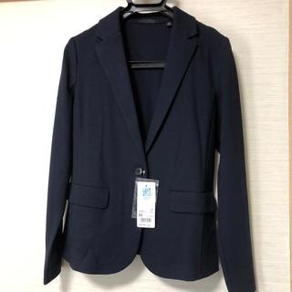 ユニクロ(UNIQLO)のユニクロ UVカット ジャージージャケット ネイビー(テーラードジャケット)