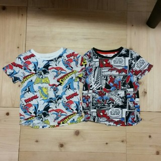 H&M - H&M MARVEL スパイダーマン&スーパーマンTシャツセット 100cm
