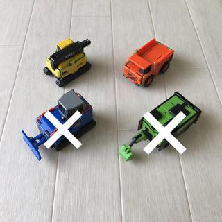 BANDAI - ブーブ 100均 建設作業車 4台セット
