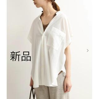イエナ(IENA)の新品 IENA コットンテンセルルーズシャツ ホワイト 2019SS(Tシャツ/カットソー(半袖/袖なし))