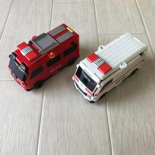 BANDAI - ブーブ 消防車 救急車 2台セット