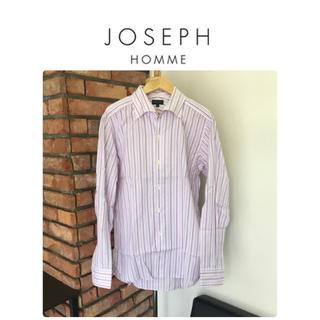 JOSEPH - ジョゼフオム☆長袖シャツ/パープル/ホワイト系/ストライプ柄/サイズ48