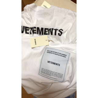 Balenciaga - VETEMENTS 18aw tシャツ inside out