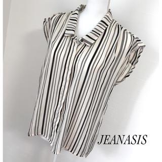 ジーナシス(JEANASIS)のJEANASISストライプ2wayシャツブラウス♡大人カジュアル♡(シャツ/ブラウス(半袖/袖なし))