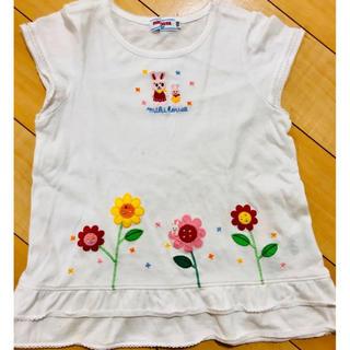 ミキハウス(mikihouse)のミキハウス 110 半袖 Tシャツ 女の子 トップス ワンピース  チュニック(Tシャツ/カットソー)
