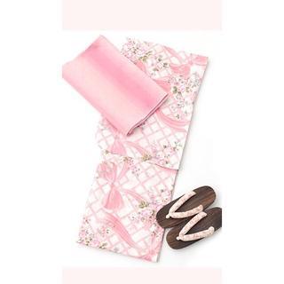 メゾンドフルール(Maison de FLEUR)のメゾンドフルール 浴衣 ピンク 3点セット 2018(浴衣)