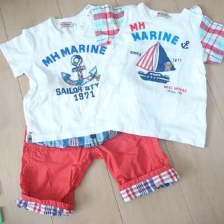 mikihouse - ミキハウス 3点セット ズボン Tシャツ