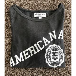 アメリカーナ(AMERICANA)のAMERICANA 七分袖 グレー Tシャツ(Tシャツ(長袖/七分))