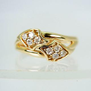 K18 ダイヤモンド リング 11号[f12-21](リング(指輪))