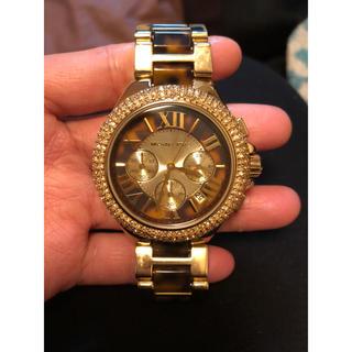 マイケルコース(Michael Kors)の【お値下げ中】腕時計 マイケルコース ゴールド べっ甲柄(腕時計)