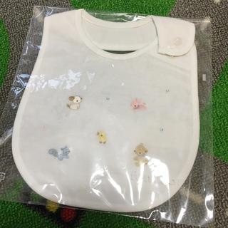familiar - 新品タグ付き✨familiar💗かわいい動物刺繍 スタイ よだれかけ