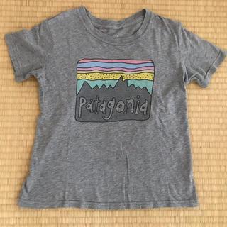 patagonia - パタゴニア★定番ロゴキッズTシャツ5Tグレー