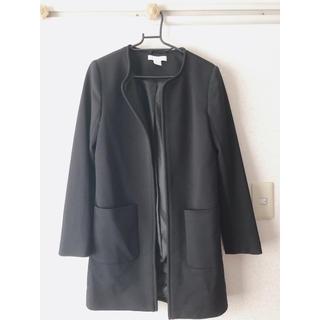 エイチアンドエム(H&M)のH&M コート  ジャケット黒 メッシュ?(テーラードジャケット)