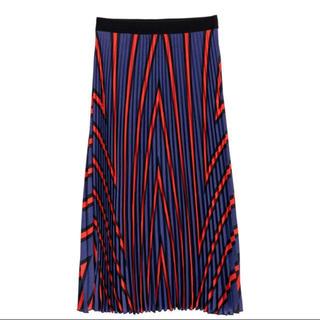 エイチアンドエム(H&M)の定価以下【新品タグ付】H&M プリーツスカート(ひざ丈スカート)