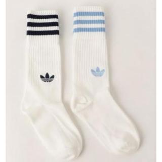 adidas - アディダスオリジナルス ソックス 靴下 水色 ネイビー