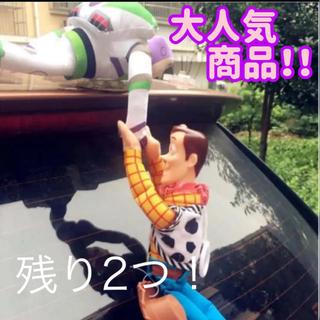 【新品】ウッディー と バズ ぶら下がりフィギュア人形 カーアクセサリー