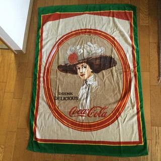 コカコーラ(コカ・コーラ)のコカコーラ 大型バスタオル DRINK DELICIOUS(ノベルティグッズ)