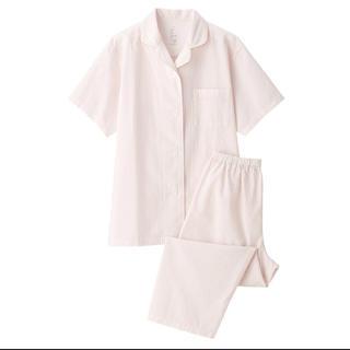 ムジルシリョウヒン(MUJI (無印良品))の新品   無印良品  脇に縫い目のない サッカー織り半袖パジャマ(パジャマ)