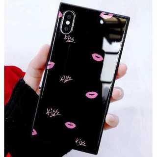 3203ed5991 iphoneケース(黒 唇柄 iphone8plus iphone7plus)(iPhoneケース)