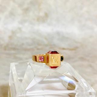 LOUIS VUITTON - 正規品 ヴィトン 指輪 ギャンブル ストーン ゴールド 金 クリスタル リング