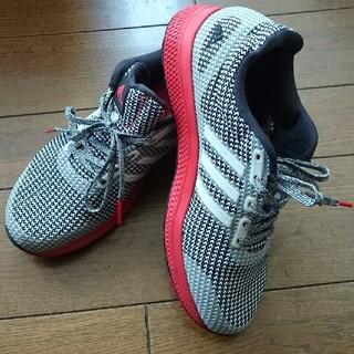 アディダス(adidas)の送料込み【adidas】25cm👟アディダス👟スニーカー👟黒×赤(スニーカー)