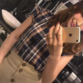 ジーユー(GU)のGU 高見え チェックシャツ(シャツ/ブラウス(半袖/袖なし))