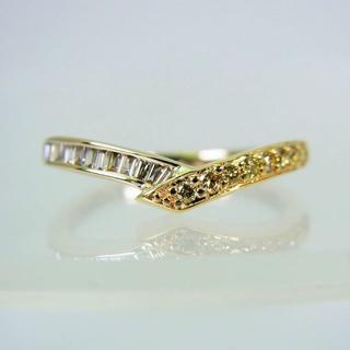K18イエローゴールド ダイヤモンド リング[f12-16] (リング(指輪))