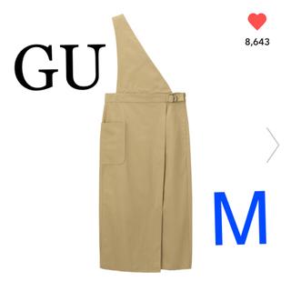 GU - 当日翌日発送*GUサス付きナローミディスカートベージュM