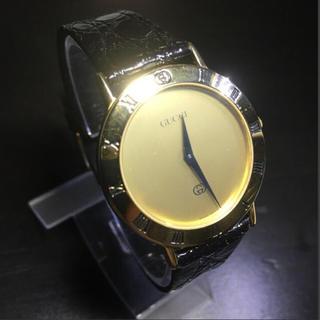 グッチ(Gucci)の【良品 確実正規品 可動】グッチ 腕時計 時計 ゴールド ユニセックス メンズ(腕時計(アナログ))