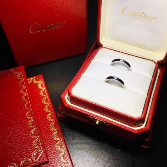 Cartier(カルティエ)の【美品 確実正規品】カルティエ プラチナ PT リング 指輪 ペアリング 付属品 レディースのアクセサリー(リング(指輪))の商品写真