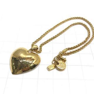 サンローラン(Saint Laurent)の美品 ヴィンテージ イヴサンローラン ゴールド ハート ネックレス(ネックレス)