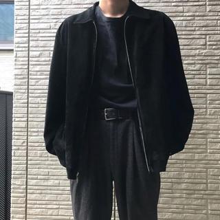 UNUSED - 樫尾さん着用似 古着 スウェードジャケット ブラック