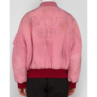 CALVIN KLEIN 205W39NYC ダメージ ロゴ ボンバージャケット(スニーカー)