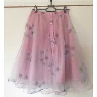 リズリサ(LIZ LISA)の♡リズリサ    花柄オーガンジースカート♡(ひざ丈スカート)