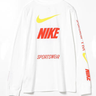 ナイキ(NIKE)のNIKE ナイキ NSW Tシャツ ロンT ホワイト US Mサイズ(Tシャツ/カットソー(七分/長袖))
