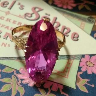 ラズベリーピンクのヴィンテージリング(リング(指輪))