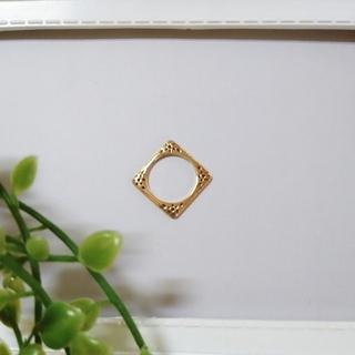ノジェス(NOJESS)のノジェス K10 スクエア ピンキーリング チャーム(リング(指輪))