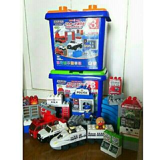 バンダイ(BANDAI)の ブロックラボ  パトカーと消防車 N700  アドバンス  新幹線  セット(積み木/ブロック)