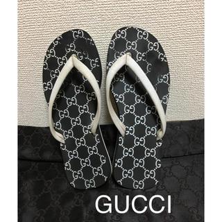 Gucci - GUCCI/グッチ GG ラバー サンダル size35 ブラック