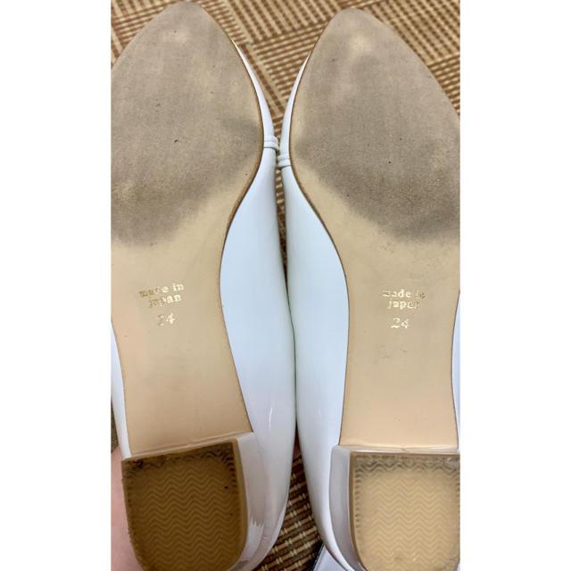 Le Talon(ルタロン)のルタロンのエナメルパンプス☆ホワイト レディースの靴/シューズ(ハイヒール/パンプス)の商品写真