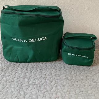 ディーンアンドデルーカ(DEAN & DELUCA)のDean&Deluca 保冷バッグ グリーン2点セット(弁当用品)