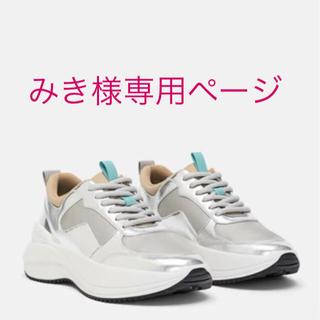ザラ(ZARA)の【新品】ZARA レザースニーカー(スニーカー)